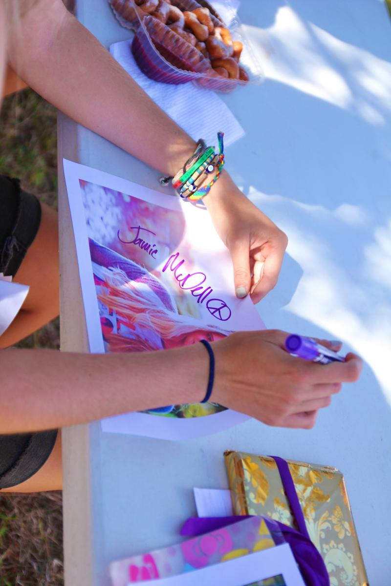 Jamie McDell - Signing Session - Music In Parks - Luckens Reserve - March '13