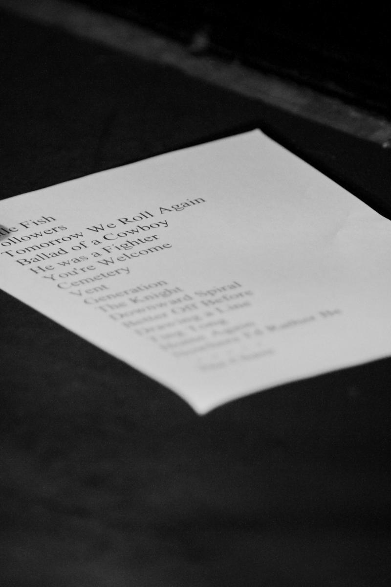 Set list - Melic - Juice Bar - Jun 2012