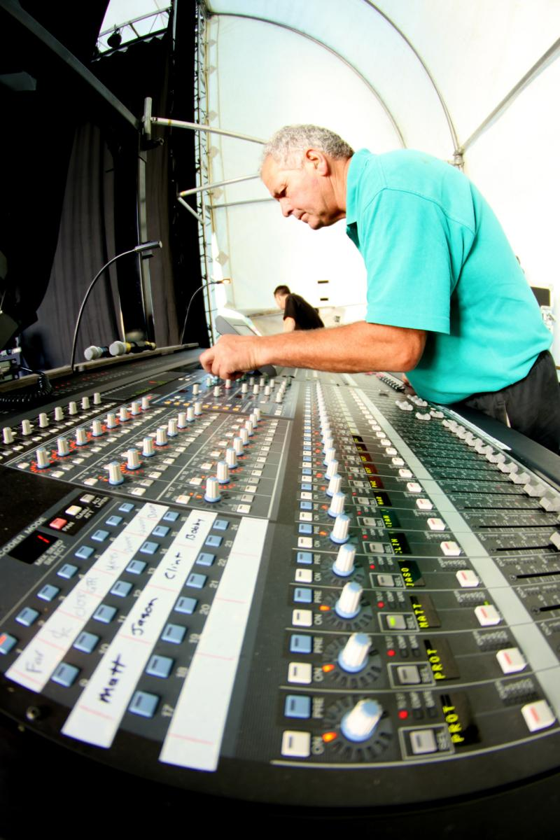 Sound Desk - More FM Summer Vineyard Tour - Feb 2013