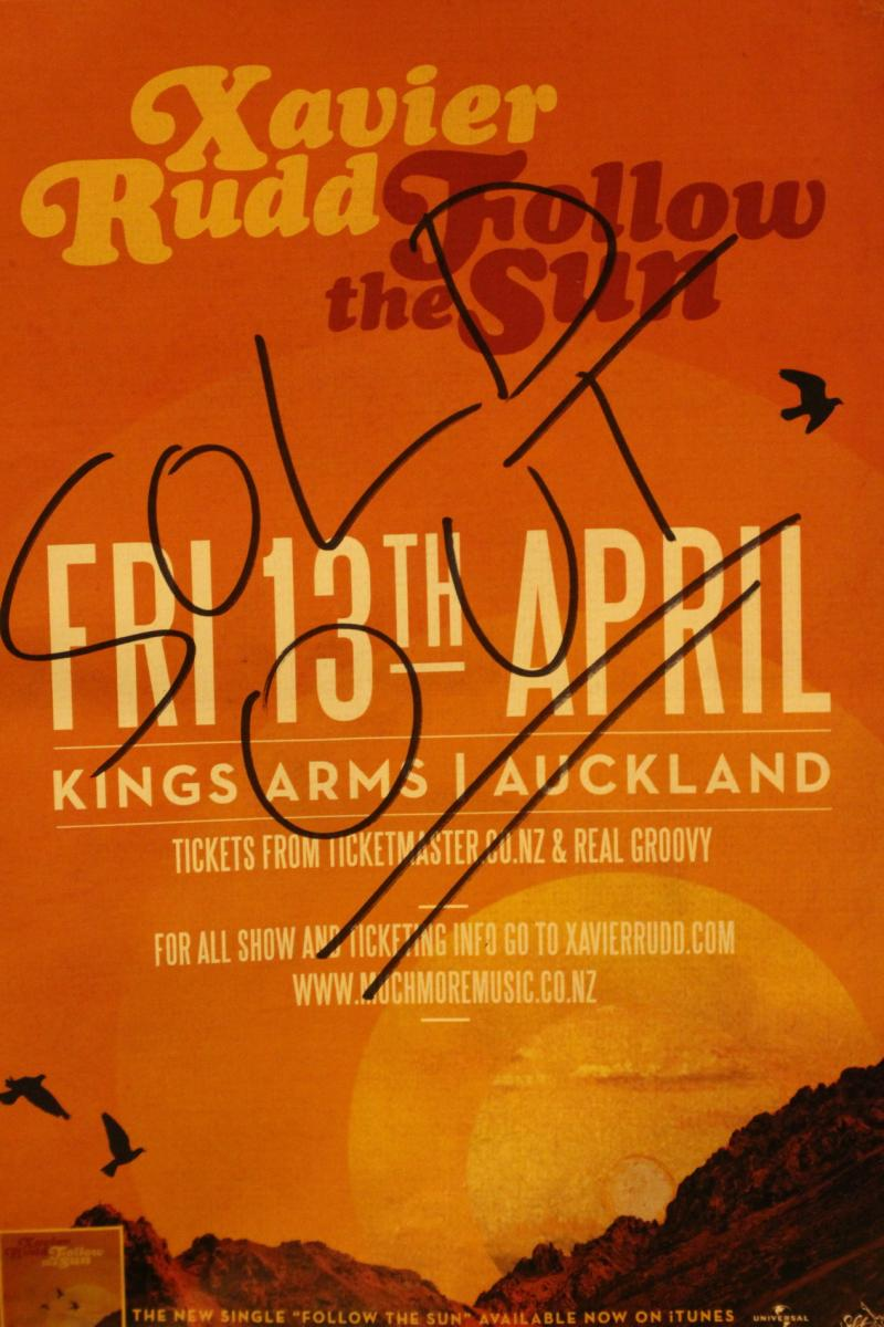 Poster - Xavier Rudd - Kings Arms - Apr 2012