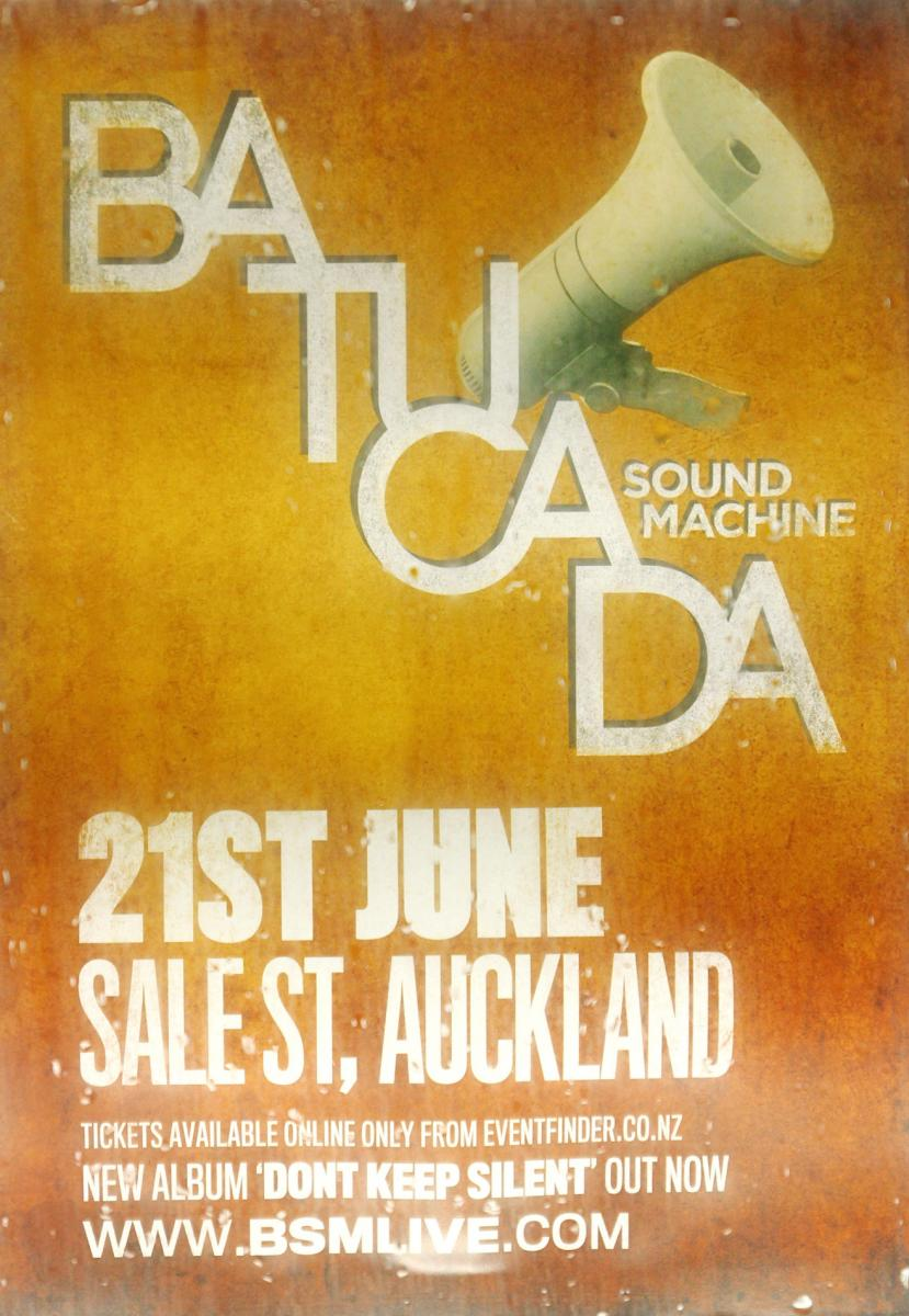 Poster - Batucada Sound Machine - Sale Street - Jun 2012