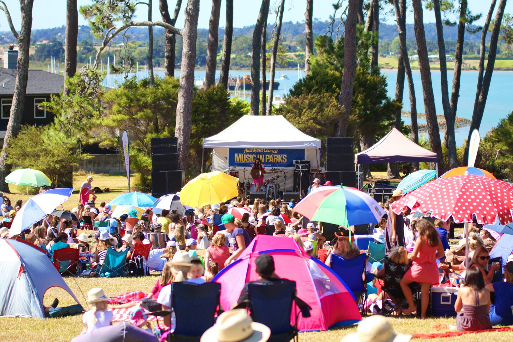 Crowd for Jamie McDell - Music In Parks - Luckens Reserve - March '13